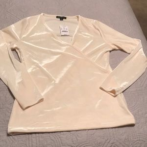 Velvet cream JCrew factory long sleeve NWT